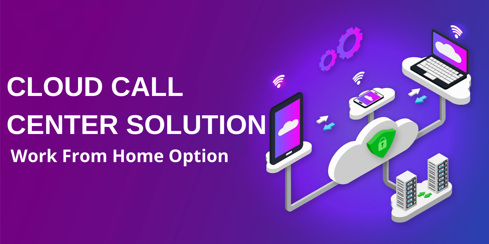 cloud call center solution with work from home option